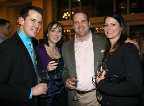From left: Jeff Tinsdale of Medford, Kristen Shirlaw of Medford, and Ryan and Deanna Sutton of Charlestown.