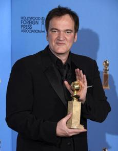 Filmmaker Quentin Tarantino won best screenplay for