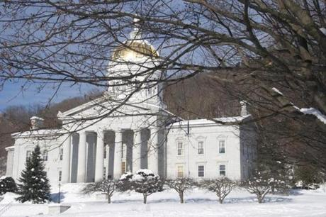 Vermont's state house welcomes visitors, who stop by to see its historic paintings and furnishings.