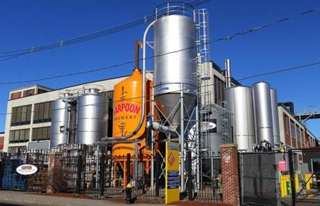 When Harpoon Brewery opened in 1987, its loading docks of a working brewery matched those of neighboring businesses.