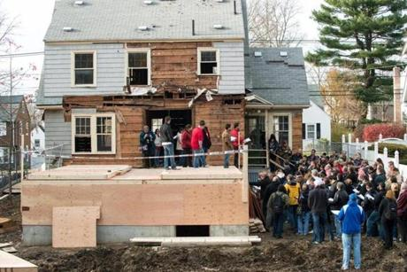Beantown Property Group's real estate rehab boot camp visits the Winchester property at 217 Forest St. Nov. 17.