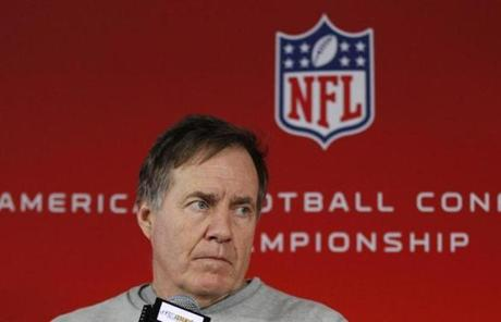 Patriots coach Bill Belichick was typically tight-lipped when asked about his team, but was effusive in praise for the Ravens.