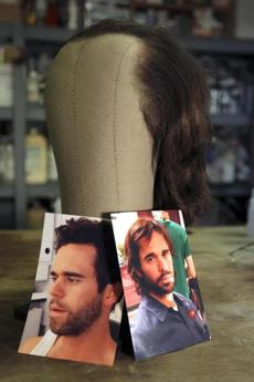 "The wig for actor David Walton in ""The Makeover"" made by makeup artist and wig maker Joe Rossi."