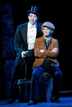 "Matthew Broderick, left, as Jimmy Winter and Kelli O'Hara as Billie Bendix in the musical ""Nice Work If You Can Get It."""
