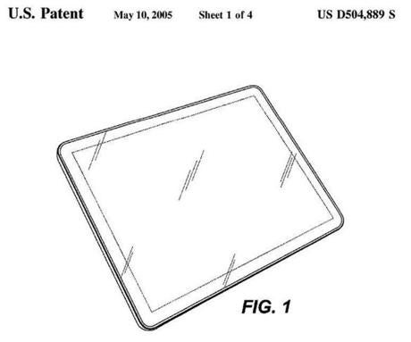An illustration from Apple's patent D670,286.