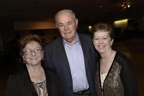 From left: West Roxbury Irish Social Club President Mary Maloney of West Roxbury, Mike Hart of Braintree, and Kathleen Lundy of West Roxbury.