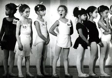 November 2, 1982:  Most girls watched the tryouts, but the action drew a big yawn from Danielle Delmonico. Three hundred and eighty young dancers participated in auditions for 150 places in the Boston Ballet's 19th annual production of the Nutcracker. There were 50 roles for children; the 150 children selected would form three choruses, each performing for one week of the ballet's three-week-run.