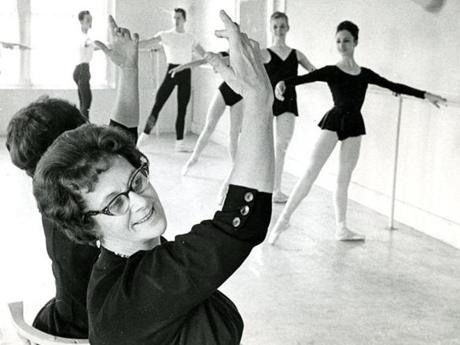 December 28, 1963:  Miss E. Virginia Williams, founder of the Boston Ballet School, directed practice at her studio on Massachusetts Avenue in Boston. A Ford Foundation grant of $144,000 given to the Boston Ballet School several weeks before created Boston's first and only professional ballet company.