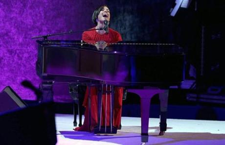Alicia Keys performed at the inaugural ball.
