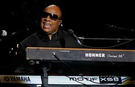 Stevie Wonder performed at the ball.