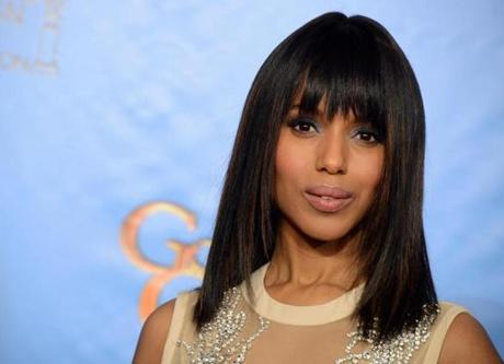 Kerry Washington at the Golden Globe Awards.