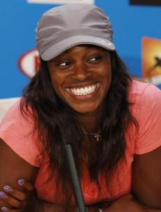 Sloane Stephens was all smiles after beating Serena Williams.