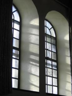 Windows in the monastery refectory.