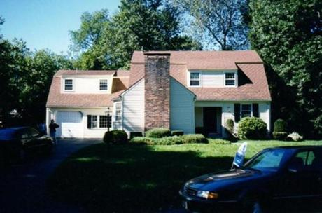 Before photo of Wellesley home designed by architect David Sharff. For Your Home issue of magazine, 2/3/13.