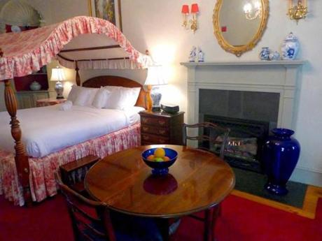 A room at the Francis Malbone House in Newport, R.I.
