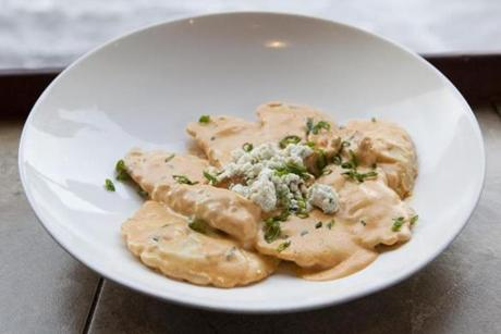 Buffalo Chicken Ravioli from Lilly's Gourmet Pasta Express.