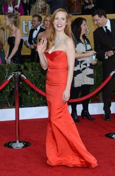 Jessica Chastain: In the Twitter universe, there were Jessica Rabbit comparisons galore, but the main reaction this Alexander McQueen gown elicits is a yawn.