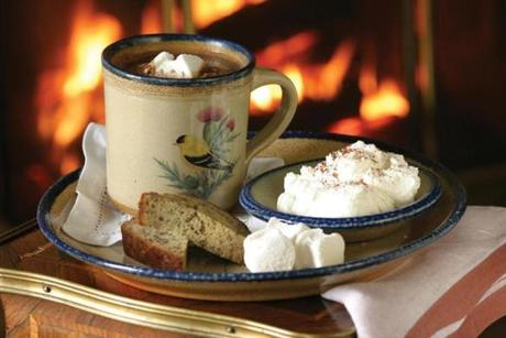 Gourmet hot chocolate at Blantyre to enjoy before, during, or after skating on the resort's shimmering rink.