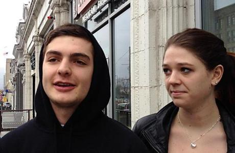 Boston University student Mike Oldcorn says he is not particularly worried, but his friend and classmate Caroline Jenks says she no longer walks alone on campus at night.