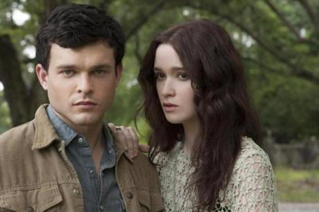 Alden Ehrenreich as Ethan Wate and Alice Englert as Lena Duchannes in Alcon Entertainment's supernatural love story.