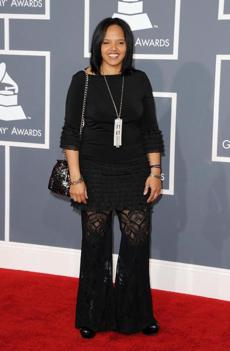 LOS ANGELES, CA - FEBRUARY 12: Musician Terri Lyne Carrington arrives at the 54th Annual GRAMMY Awards held at Staples Center on February 12, 2012 in Los Angeles, California. (Photo by Jason Merritt/Getty Images)
