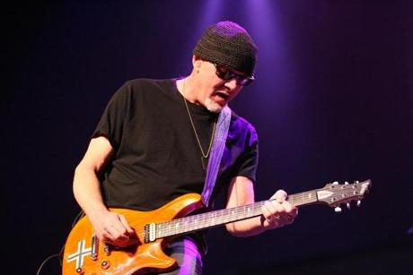 Guitarist Mark Kendall of the heavy metal band Great white plays at the Sycuan Casino in El Cajon, CA, outside of San Diego on February 01, 2013. Ten-years ago, on February 20, 2003, pyrotechnics used by Great White caused a fire at the Station nightclub in West Warwick, Rhode Island which took the lives of 100 attendees. Photo: Sean Masterson