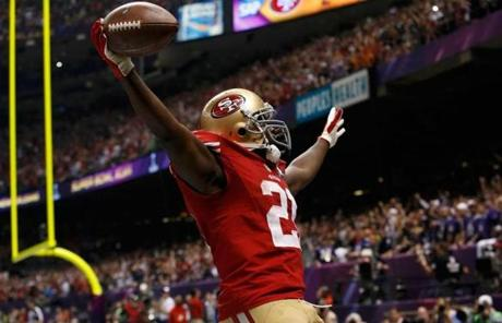 Frank Gore scored in the third quarter.