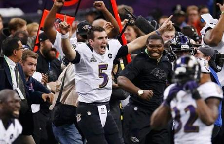 Joe Flacco reacted as the clock expired.