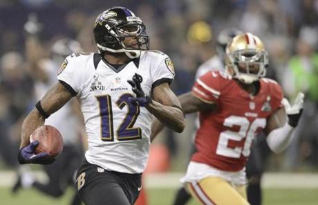 Jacoby Jones returned the second-half kickoff 109 yards for a touchdown.