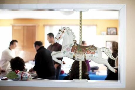 A carousel horse was installed in the home. Before the fire, Nick had joked with his brother about singing songs from the musical