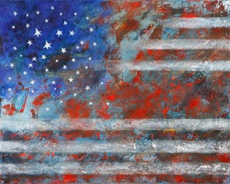 """Flag 2012"" by Eva Hoffman, on view in Marblehead."