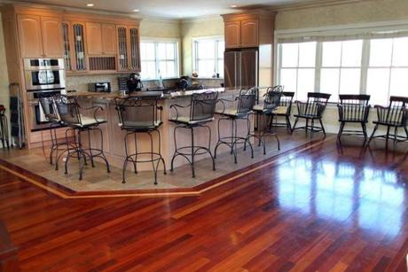 Quincy-01/09/13- Home of the week-12 Quentin Street. The brazilian hardwood floor in the kitchen. Boston Globe staff photo by John Tlumacki (business)