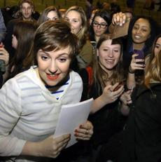 "Drector Lena Dunham attended a screening of her movie, ""Tiny Furniture,"" Wednesday, Feb. 6 2013."