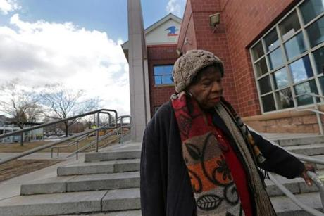 Elizabeth Ford, a South End retiree, outside the Post Office in Roxbury.