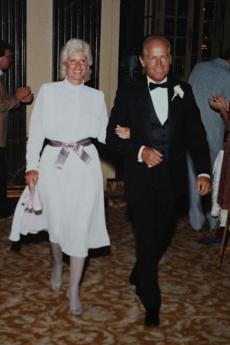 Stanley and Whitey at a wedding in the 1980s.