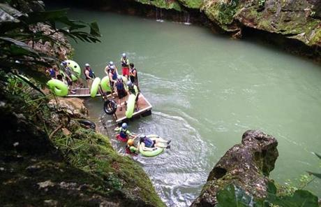 During a cave-tubing adventure in Belize's Nochuch Che'em Park, passengers from the Crown Princess explored caves.