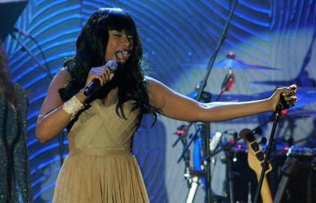 Recording artist Jennifer Hudson performs at the Clive Davis Pre-GRAMMY Gala on Saturday, Feb. 9, 2013 in Beverly Hills, Calif. (Photo by Chris Pizzello/Invision/AP)