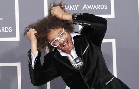 Redfoo, also known as Stefan Gordy, of the band LMFAO arrives at the 55th annual Grammy Awards in Los Angeles, California February 10, 2013. REUTERS/Mario Anzuoni (UNITED STATES - Tags: ENTERTAINMENT) (GRAMMYS-ARRIVALS)