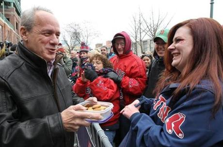 Red Sox president and CEO Larry Lucchino