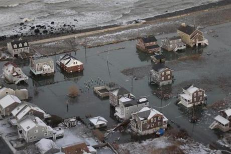 Homes were flooded in Scituate.