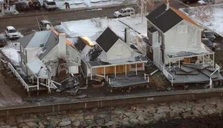 Homes were hit hard on the coast in Hull.