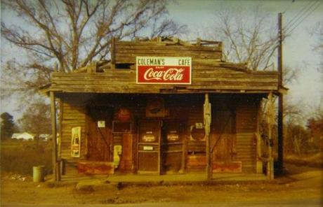 "William Christenberry's ""Coleman's Cafe, Greensboro,Alabama"" (1971), also from ""Frame by Frame."""