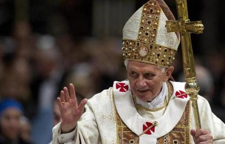 Pope Benedict XVI led a Mass at the Saint Peter Basilica in Vatican City on Feb. 2.
