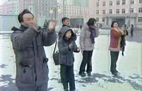 North Koreans in Pyongyang celebrated as they watched the announcement.