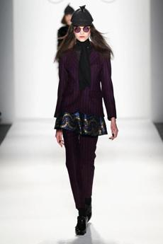 NEW YORK, NY - FEBRUARY 09: A model walks the runway at the Ruffian Fall 2013 fashion show during Mercedes-Benz Fashion Week at The Studio at Lincoln Center on February 9, 2013 in New York City. (Photo by Peter Michael Dills/Getty Images for Mercedes-Benz Fashion Week)