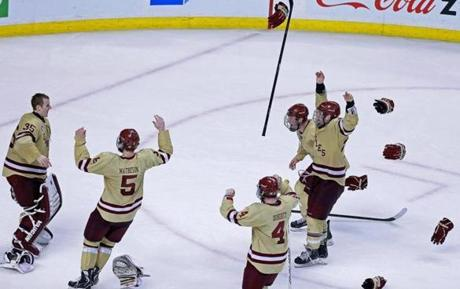 The win marked the fourth straight Beanpot championship for BC.
