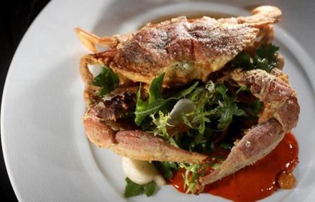 A soft shell crab dish at 80 Thoreau.