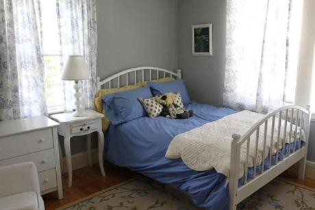Dedham,Massachusetts 02-13-2013 One of the homes bedrooms at Home of The Week at 6 Marion Street . ( Jonathan.Wiggs )Topic:Section:Reporter: Topic: Reporter: