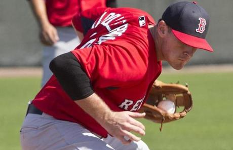 Will Middlebrooks fielded a ground ball at the team's training facilities in Florida.
