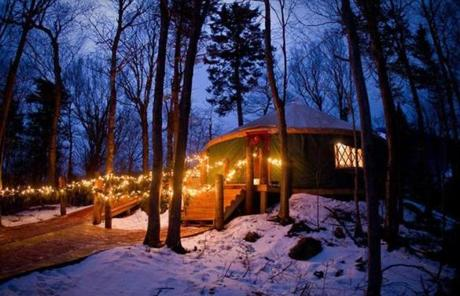 The Ledgewood Yurt at Killington Resort.